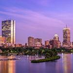 Boston Skyline - Boston, MA - Summer View from Longfellow Bridge