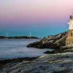 Castle Hill Lighthouse - Rainbow Skies