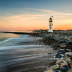 Old Scituate Light - Pastel Sunset